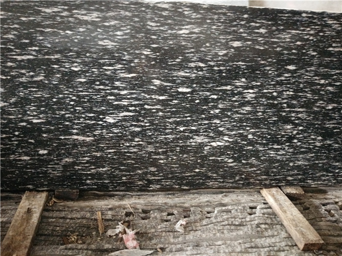 Night Snow Granite Slabs Black Granite for Kitchen Tops