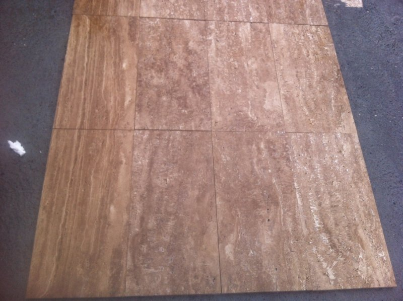 Noce Veincut Tiles Brown Travertine Stone Tiles for Flooring