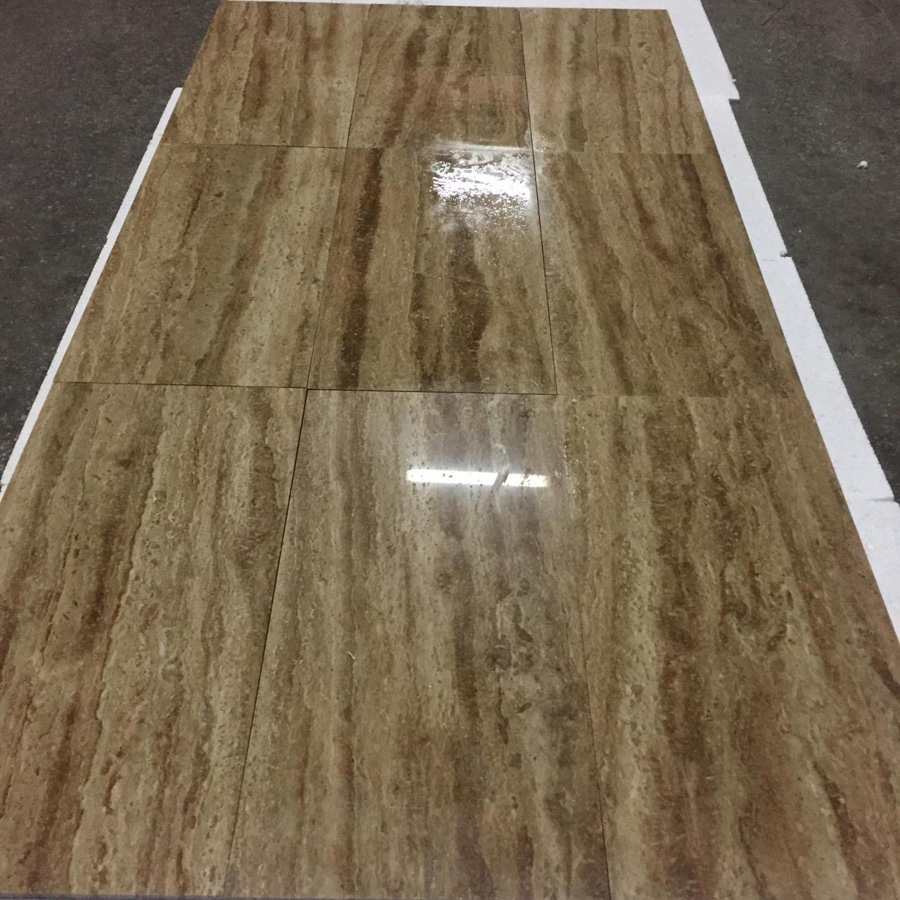Noche Travertine Polished Travertine Flooring Tiles