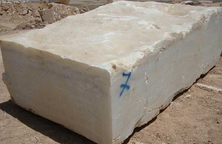 white onyx natural stone block