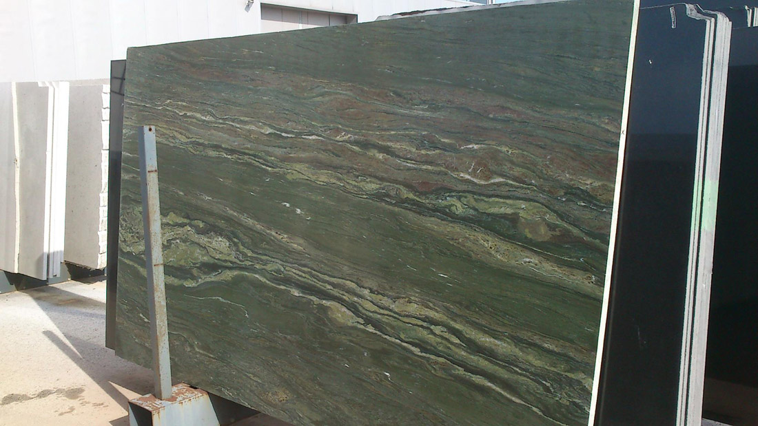 Oasis Green Polished Green Marble Slabs