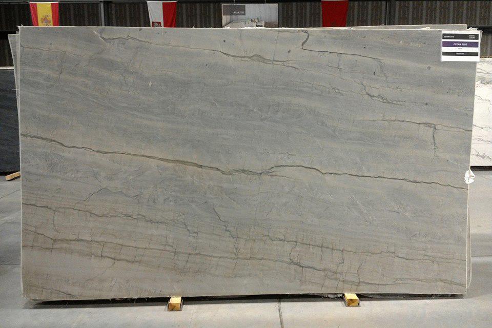 Ocean Blue Quartzite Slabs with High Quality