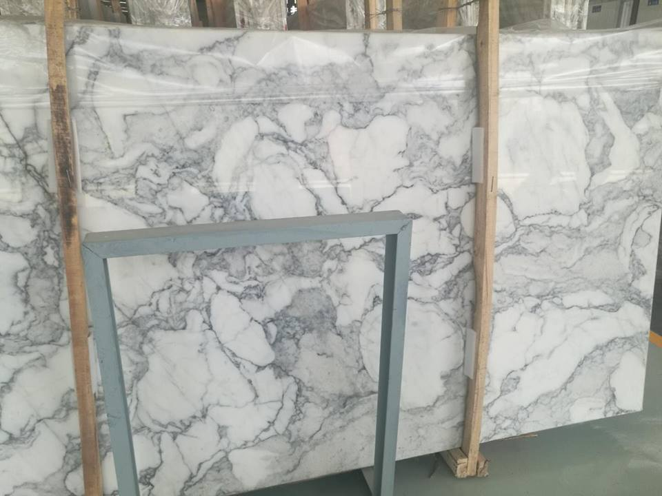 Ocean Calacatta White Marble Polished Slab