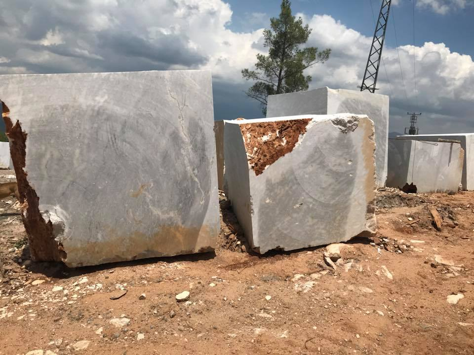 Ocean Grey Natural Turkish Grey Marble Blocks