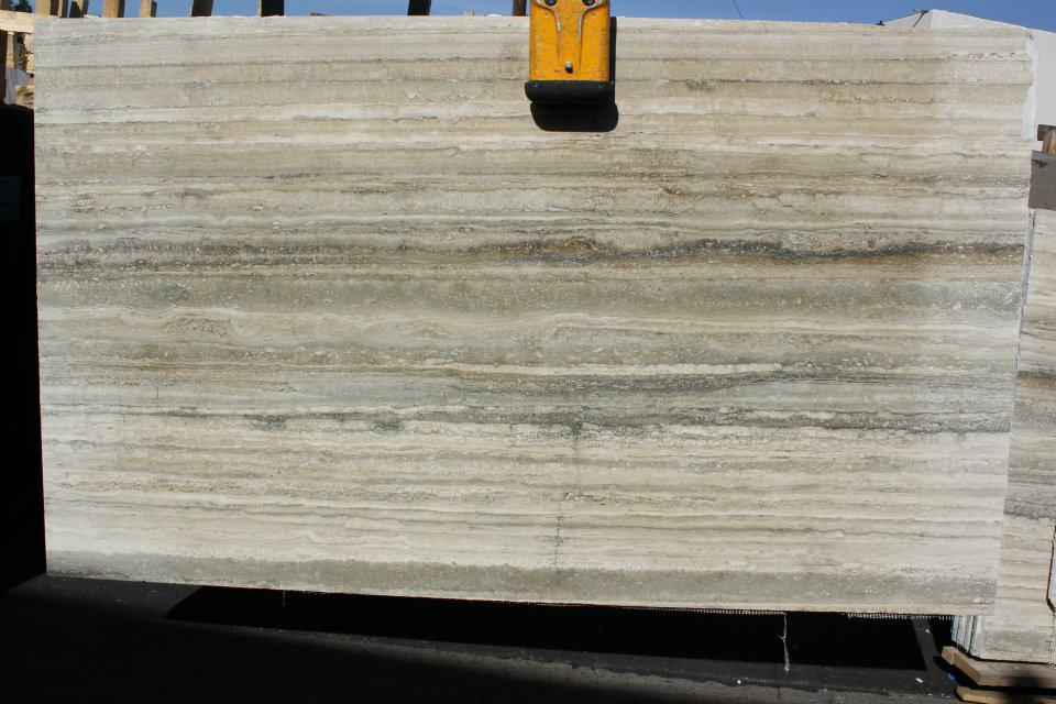 Ocean Silver Travertine Slabs Vein Cut Slabs