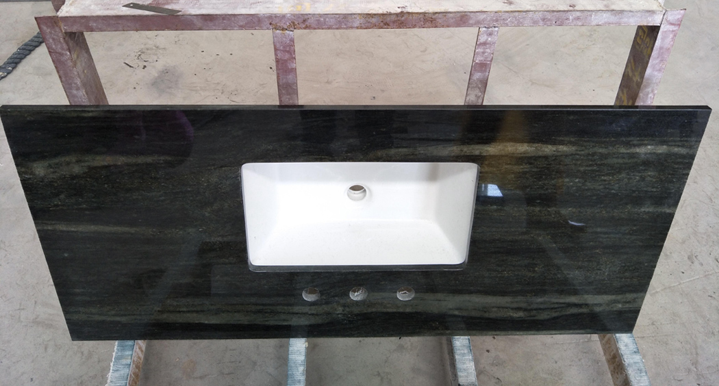Olive Green Granite Bathroom Vanity Tops