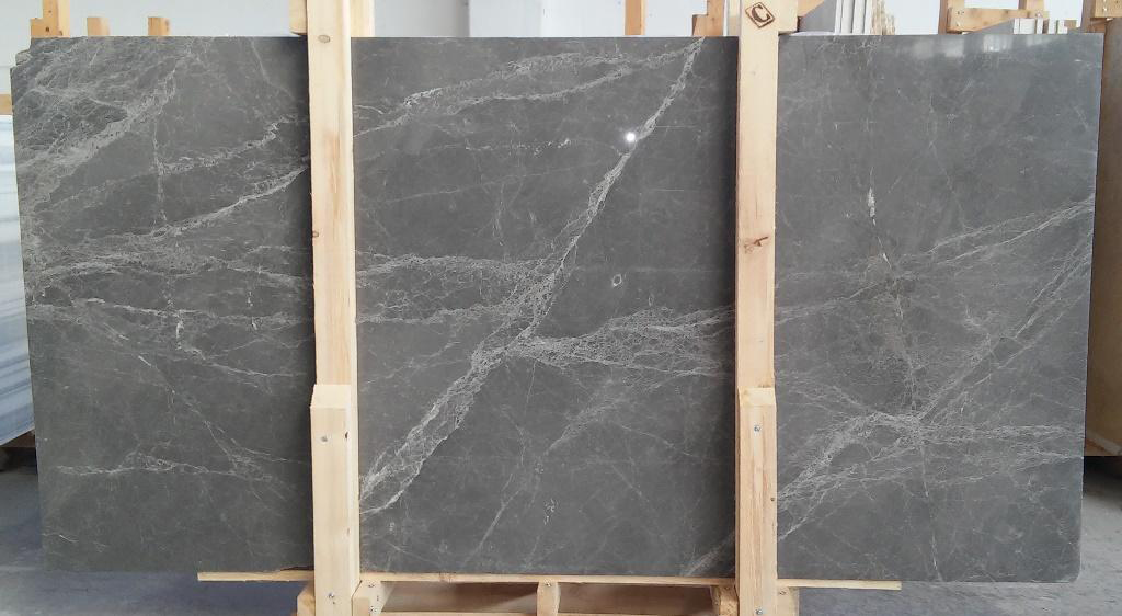 Olive Grey Marble Slabs Polished Grey Marble Slabs