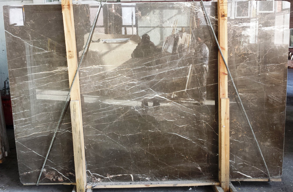 Olive Maron Marble Slabs Polished Brown Marble Slabs
