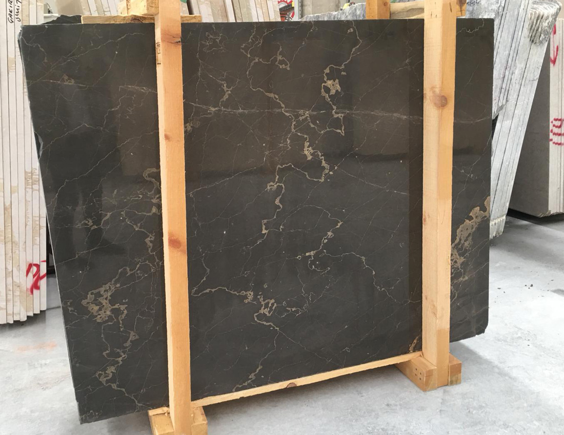 Olive Marron Polished Marble Slabs from Turkey