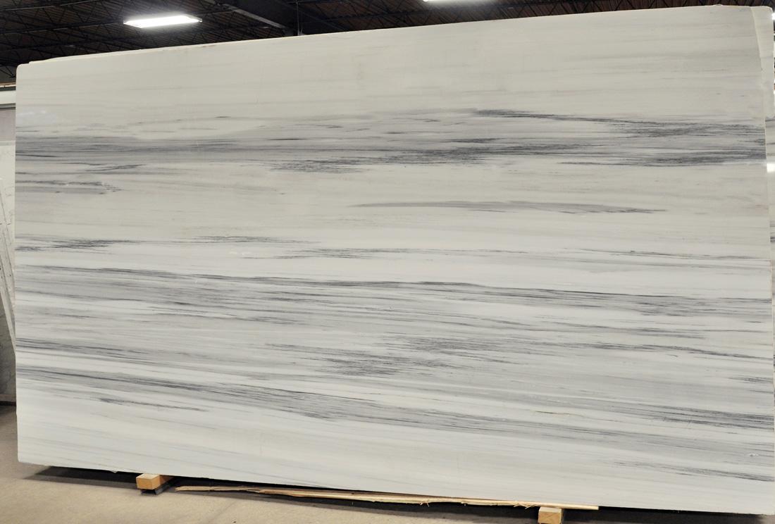 Olympic White 2cm Polished Marble Slabs Greek Marble Slabs