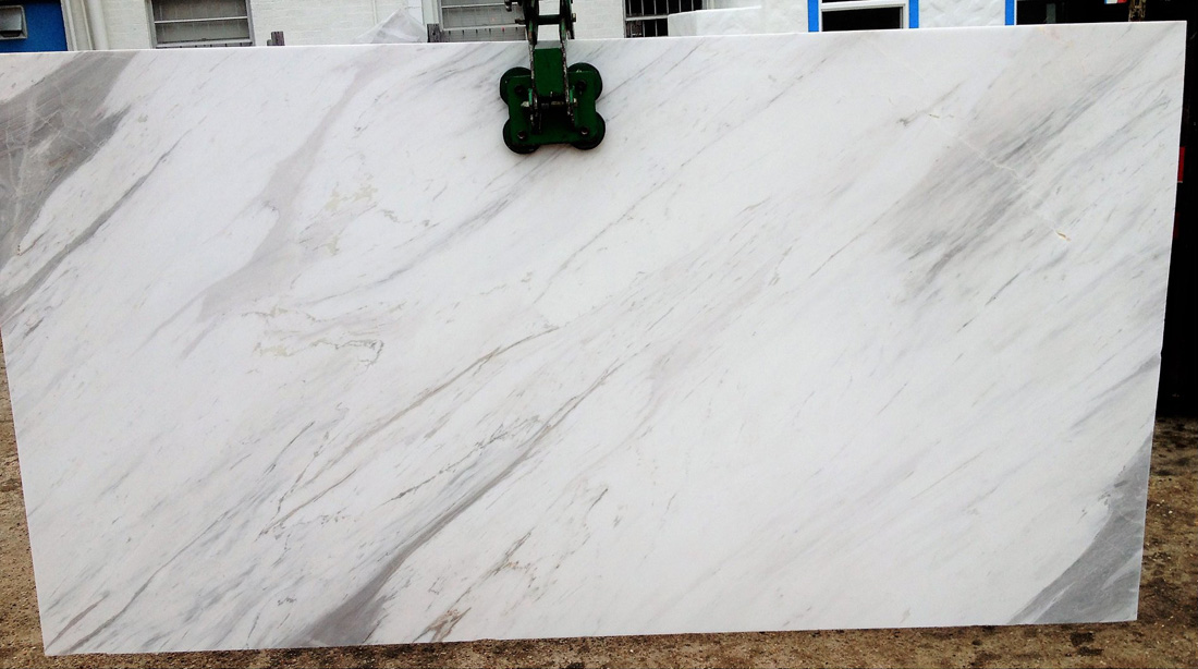 Olympus White Natural Marble Slab from Greece