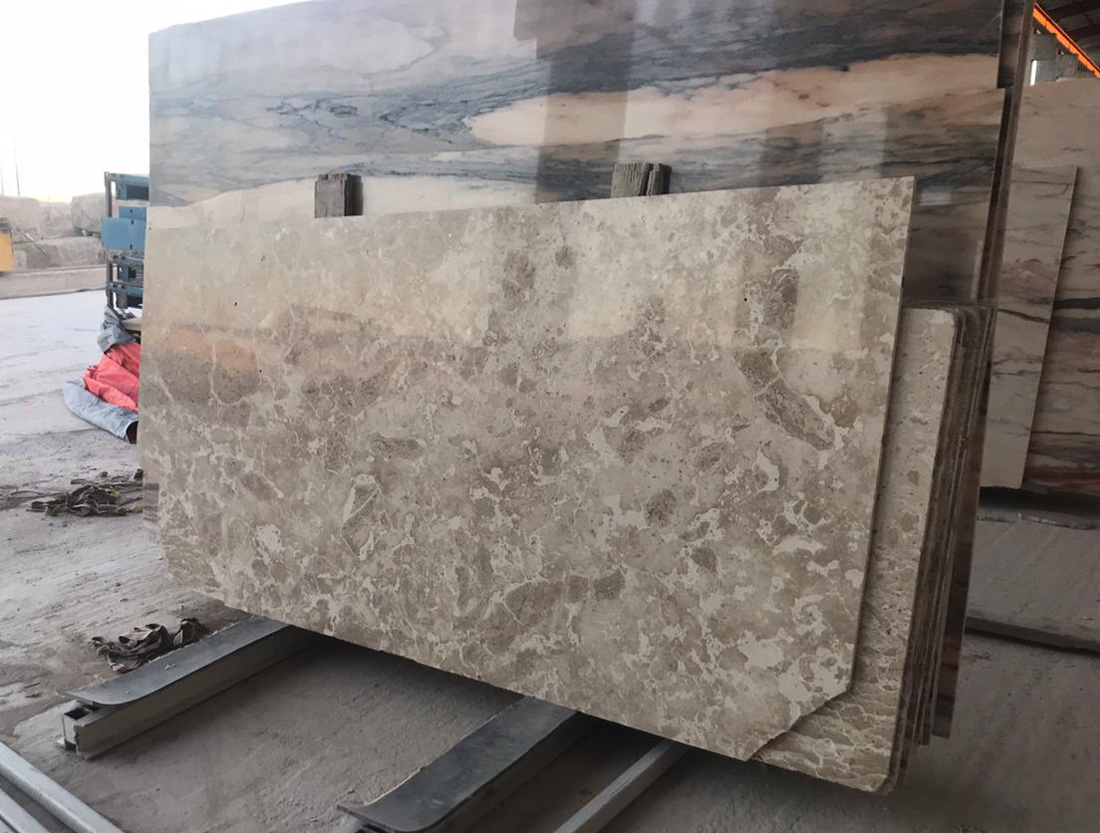 Oman Duka Limestone Slabs Polished Grey Limestone Slabs