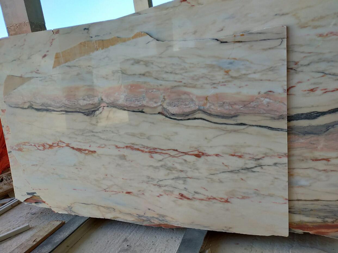 Oman Marble Polished Stone Slabs Premium Marble Slabs for Export