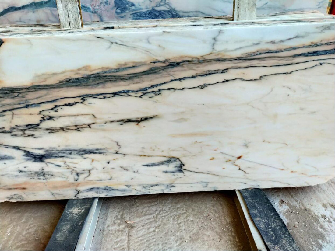 Oman Marble Slabs Polished Beige Marble Slabs for Export