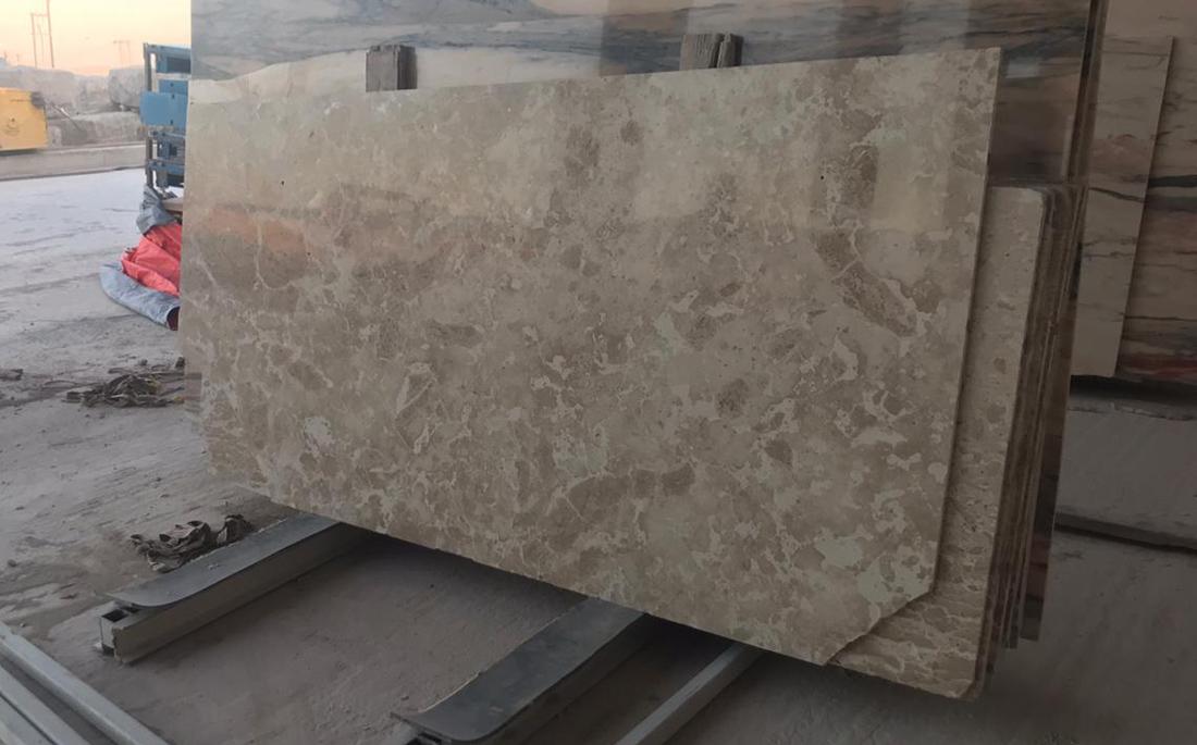 Oman Polished Duka Limestone Slabs Grey Limestone Slabs