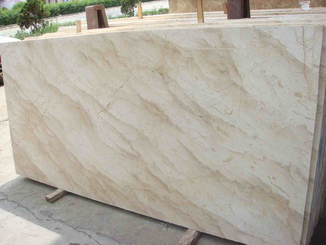 Omani Beige Marble Tile Slab