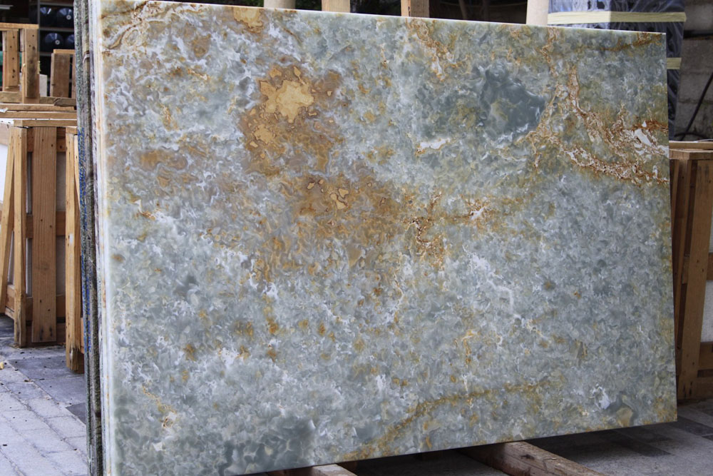 Onyx Blue Slabs Polished Onyx Stone Slabs