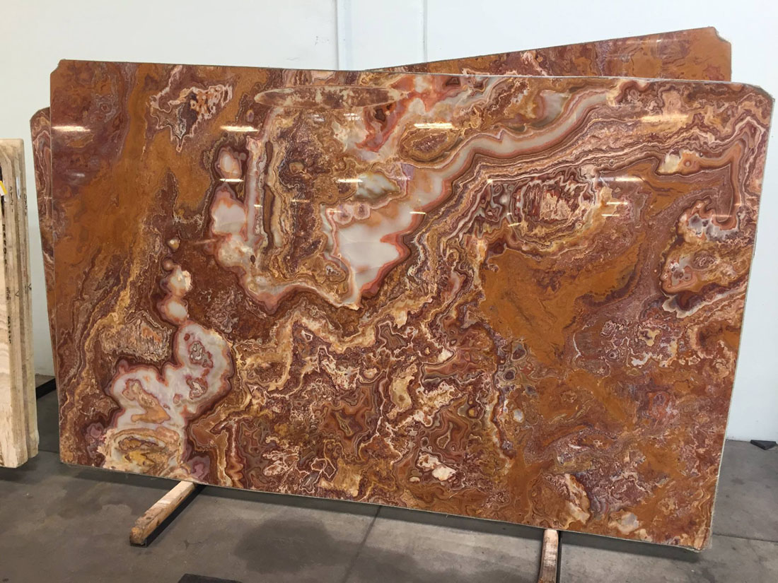 Onyx Red Oriental Polished Big Slabs