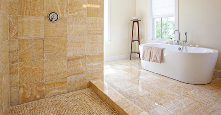 Yellow Onyx Tile Wall Floor