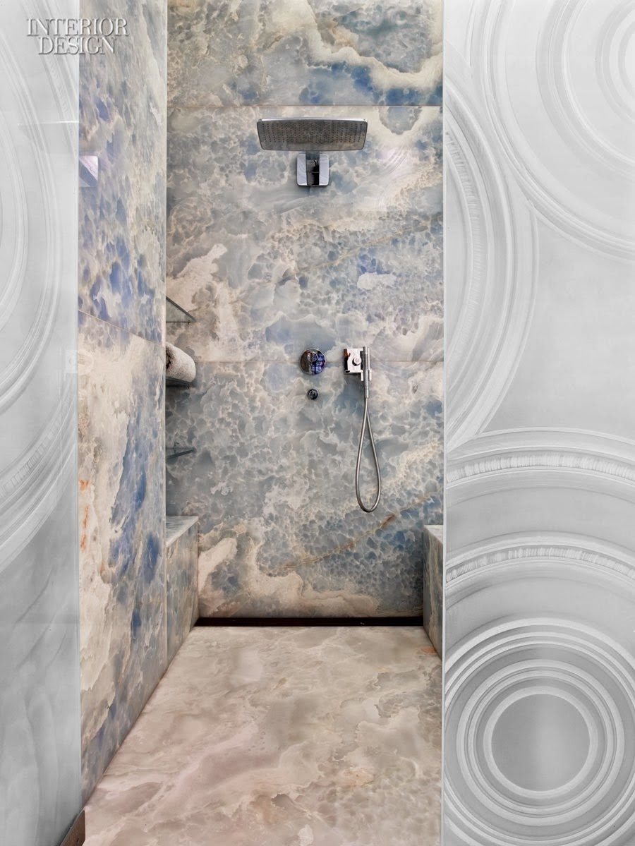 Blue Onyx Tile Floor Wall