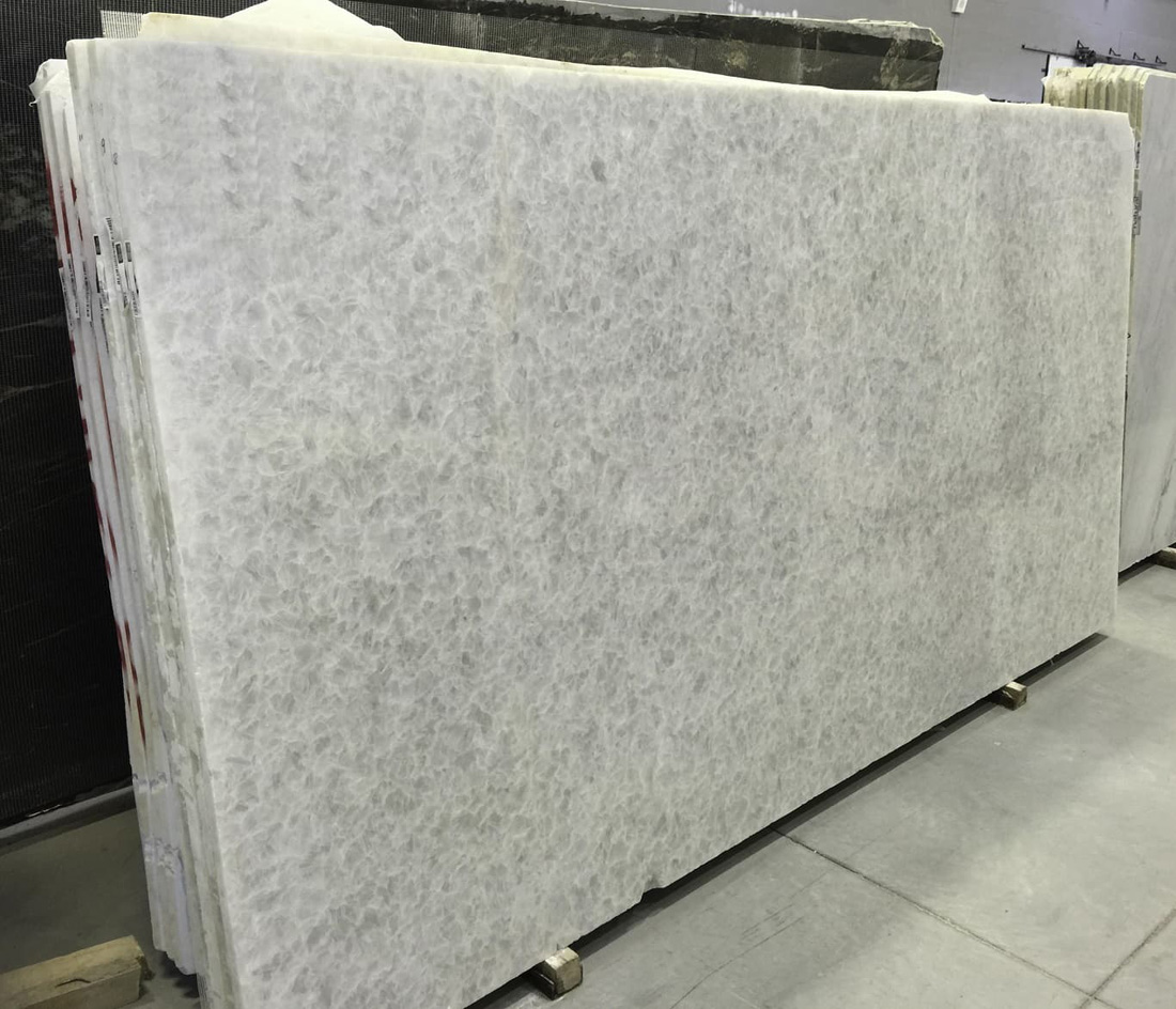 Opal White Marble Slabs Polished White Marble Stone Slabs