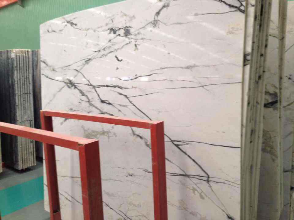 Orchid Jade White Marble Slabs