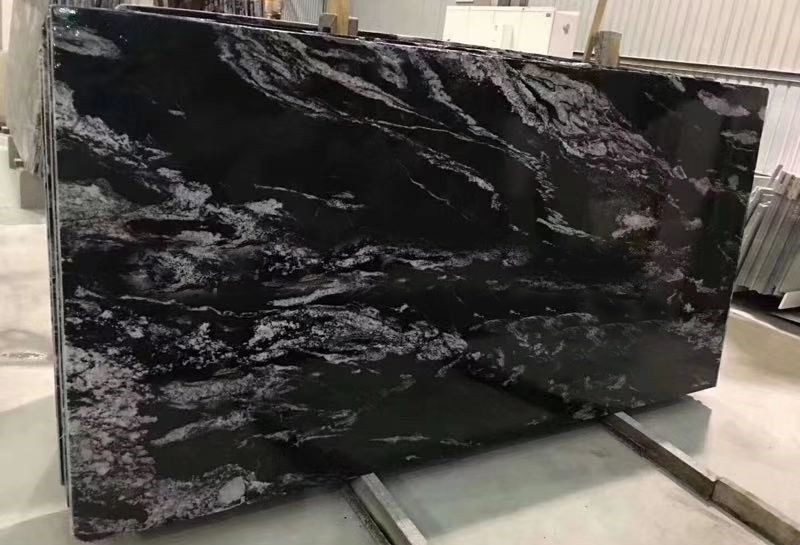 Oriental Ballets Black Granite Slab Polished Granite Slabs