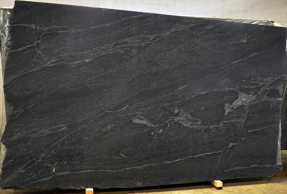 Orion Black Honed Granite Slabs for Kitchen Countertops