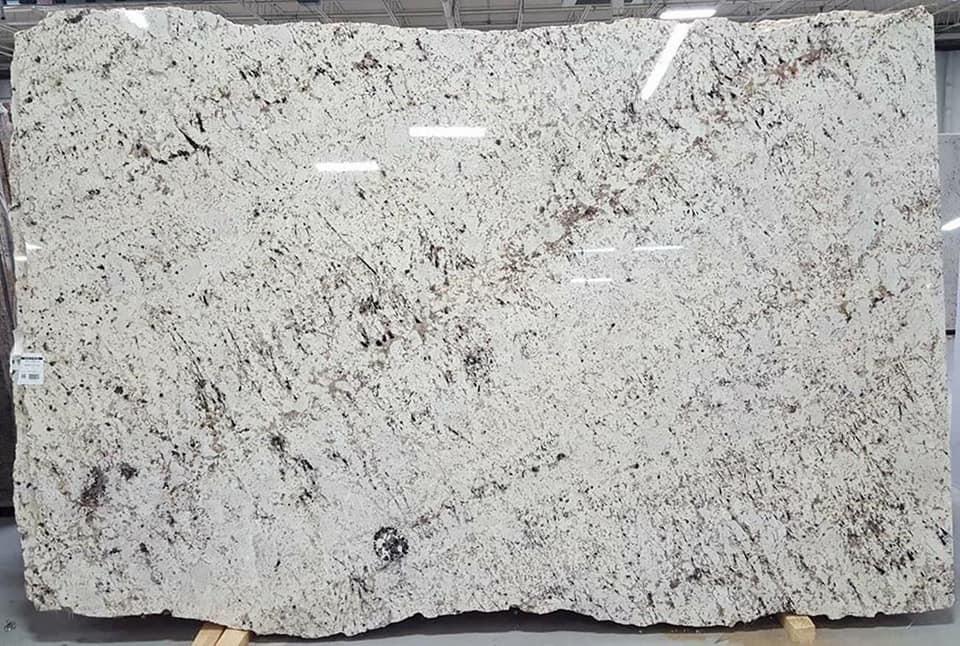 Ornamental Dream Polished White Granite Slabs