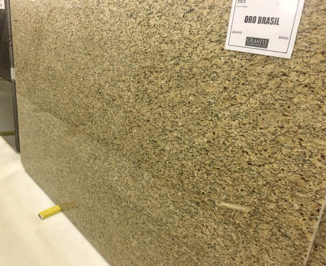 Oro Brasil Granite Polished Beige Granite Slabs