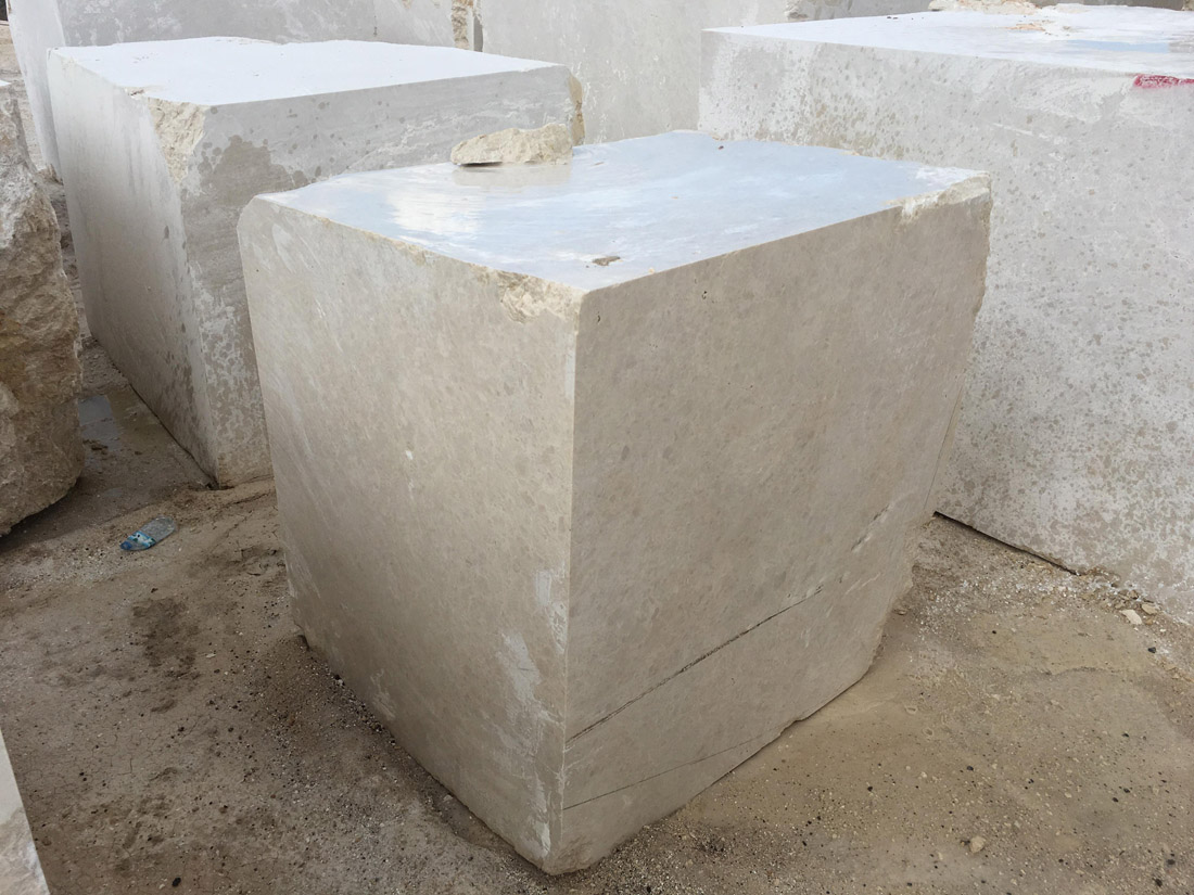 Ottoman Beige Marble Blocks from Turkish Quarry