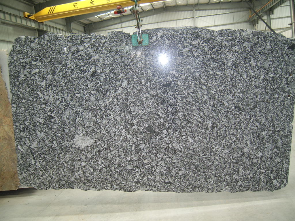 Oyster Pearl Granite Slabs Polished Grey Stone Slabs