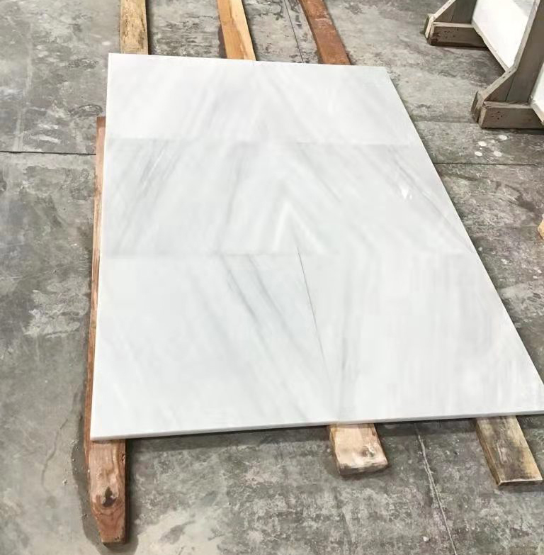 Pacific White Marble Tiles Polished White Marble Flooring Tiles