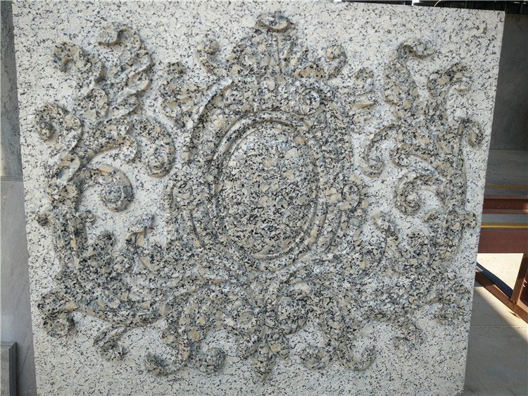 Pale Yellow Granite Carving
