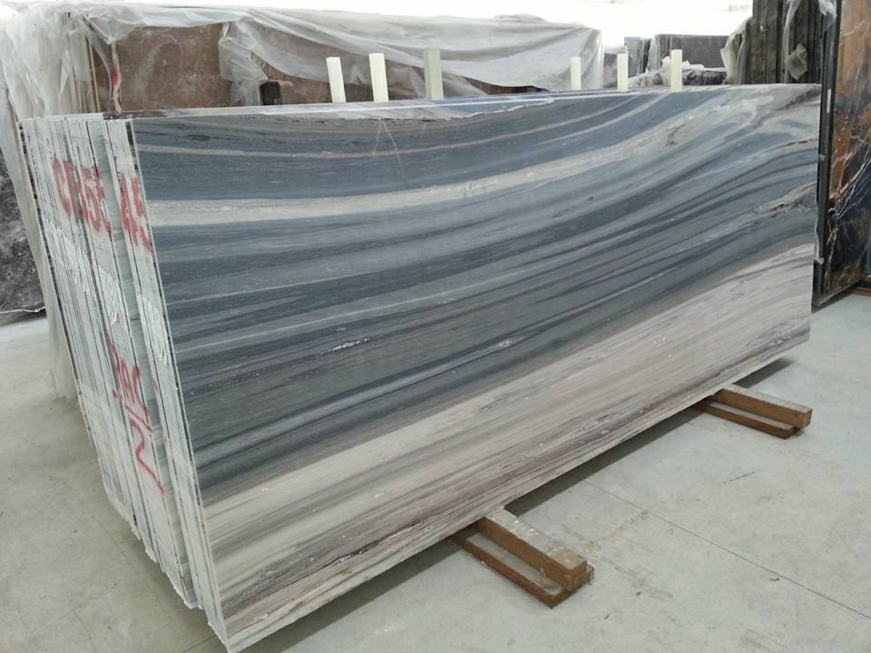 Palissandro Blue Marble Polished Slabs from Turkey