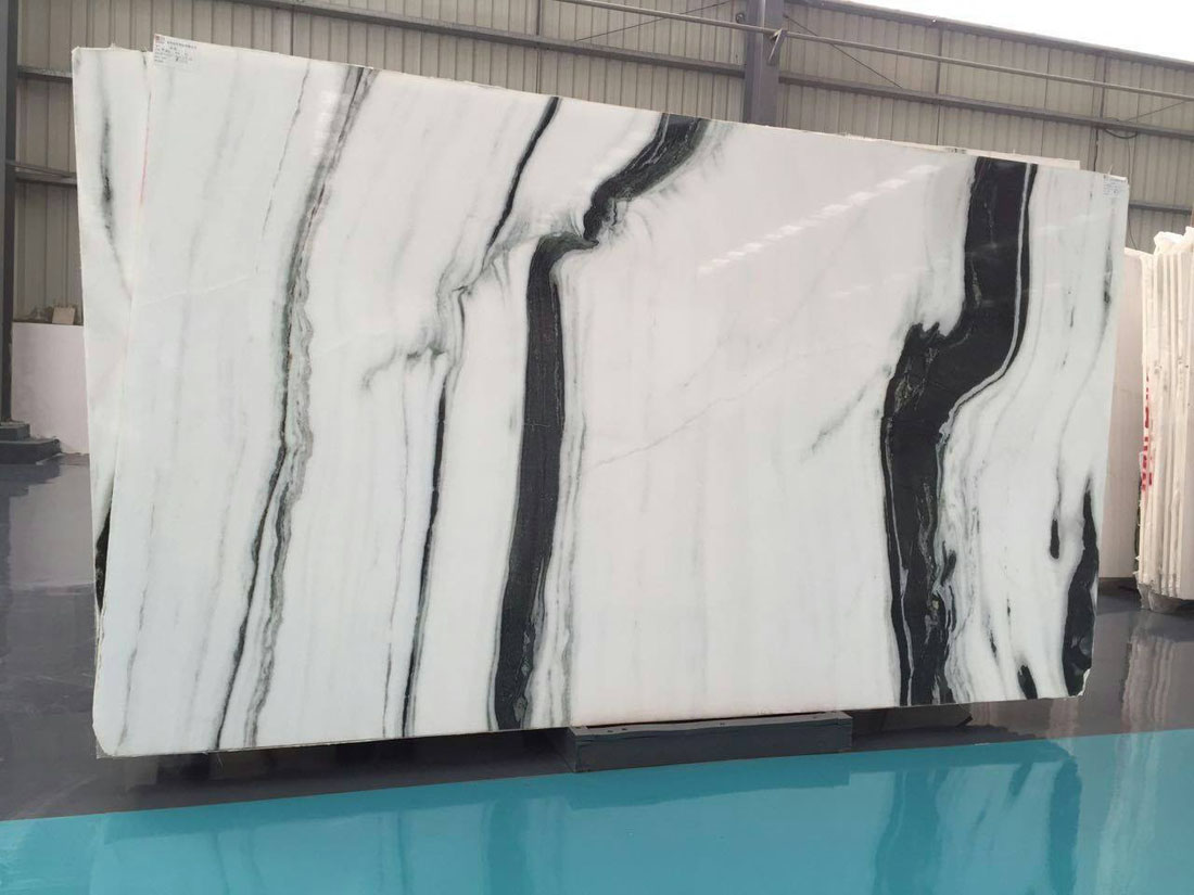 Panda White Marble Polished Slabs Chinese White Marble Slabs