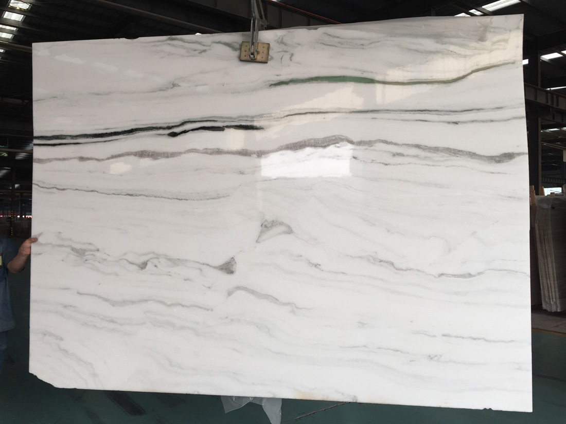 Panda White Marble Slabs Chines Polished Natural Stone Slabs
