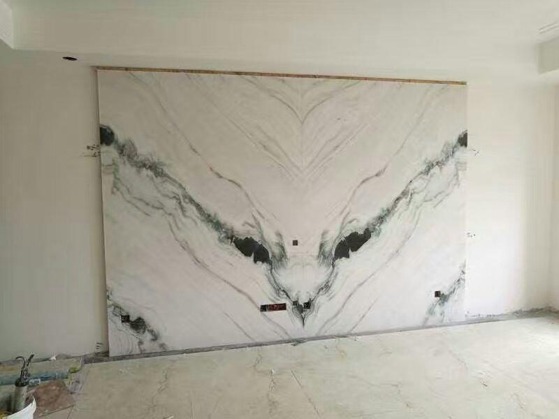 Panda White Marble TV Backdrop Wall Tiles