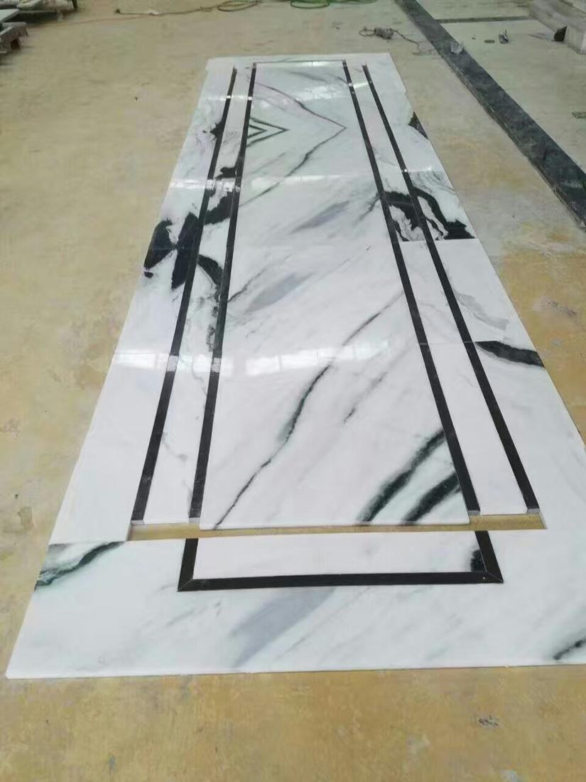 Panda White Marble Wall Cladding Tiles