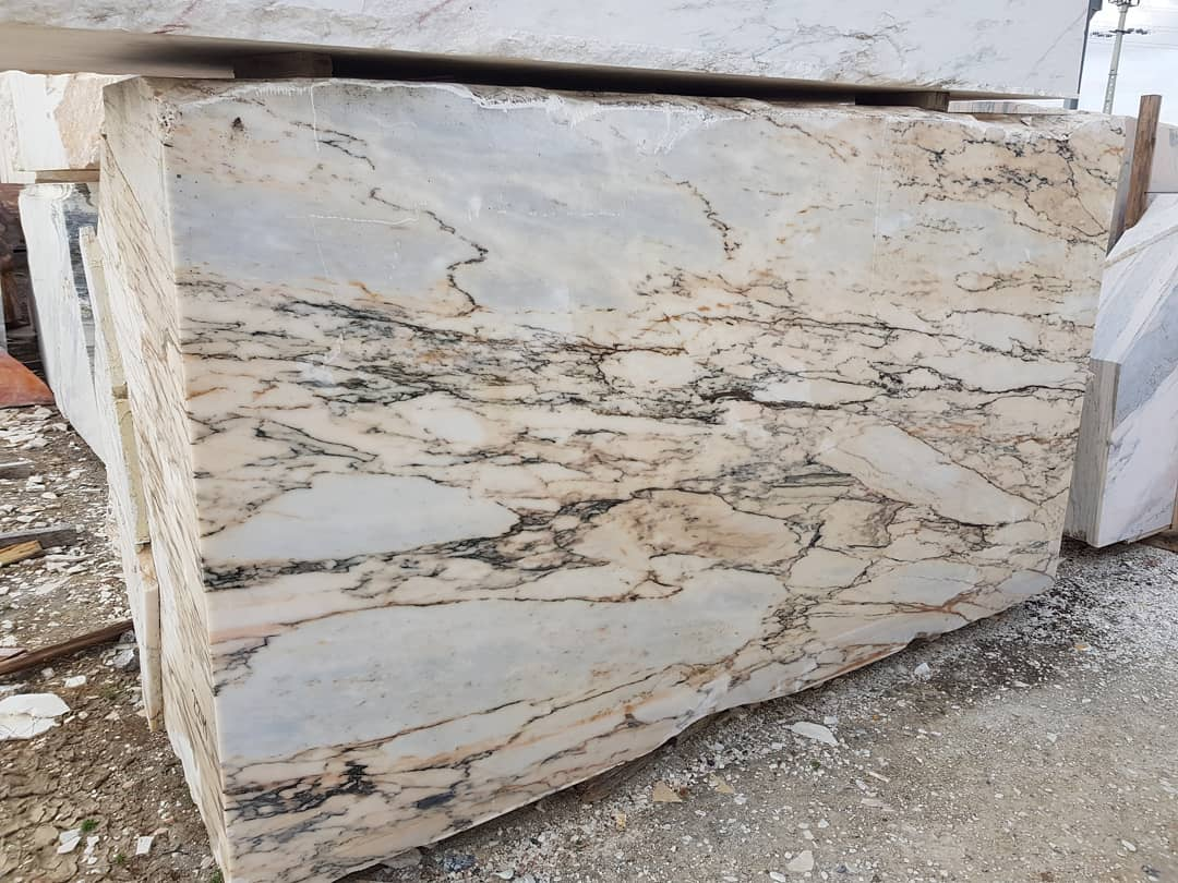 Paonazzo Marble Portugal White Marble Blocks