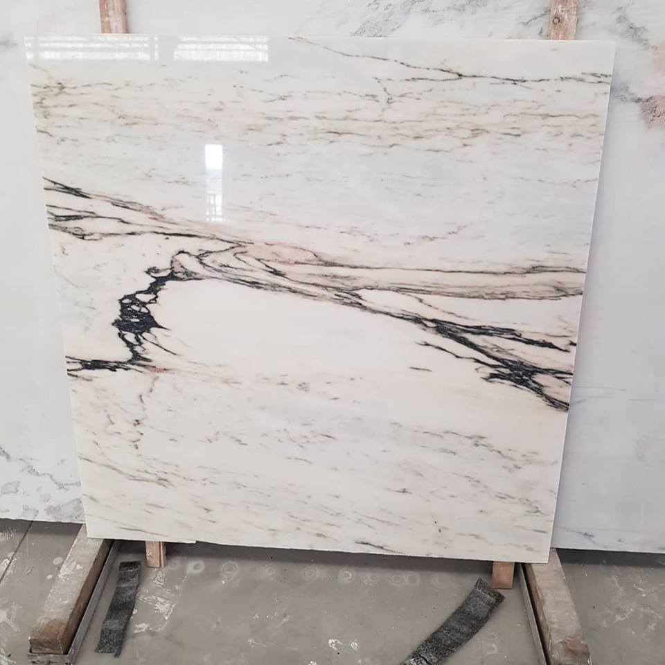 Paonazzo Marble Tiles Polished White Marble Tiles