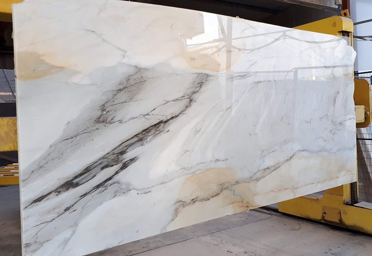 Paonazzo White Polished Slabs White Marble Slabs