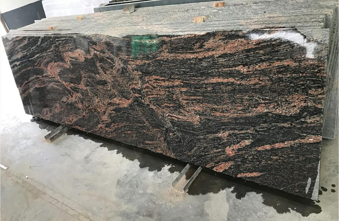 Paradiso Polished Slabs Indian Granite Slabs for Kitchen Countertops