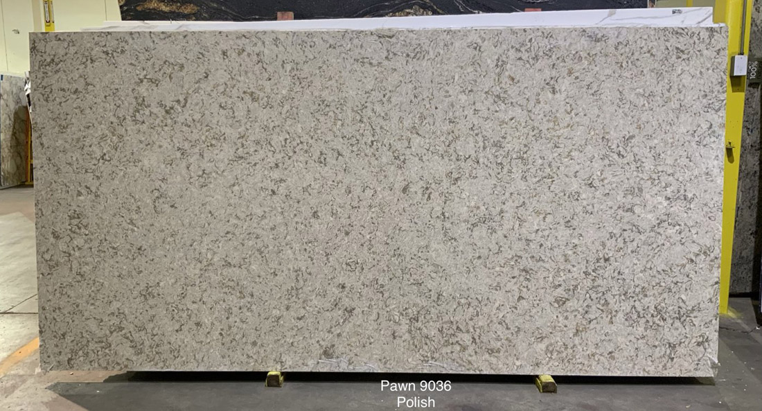 Pawn Quartz Slabs Polished Grey Artificial Stone Slabs