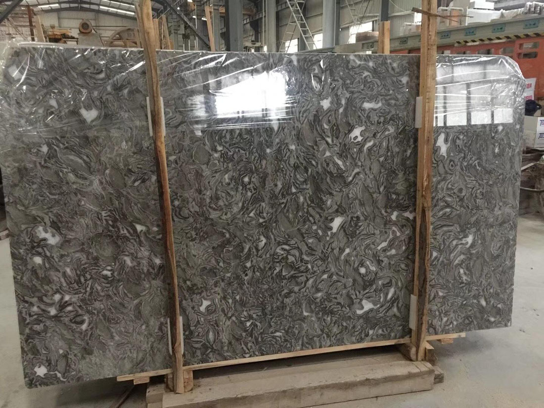Pearly Grey Marble Slab from China