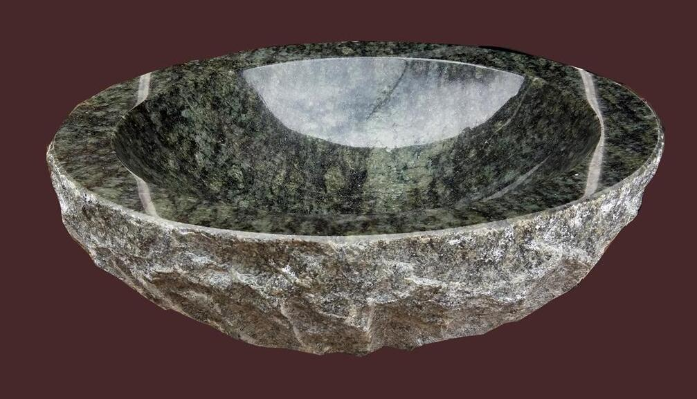 Pecock Green Polished Marble Sinks