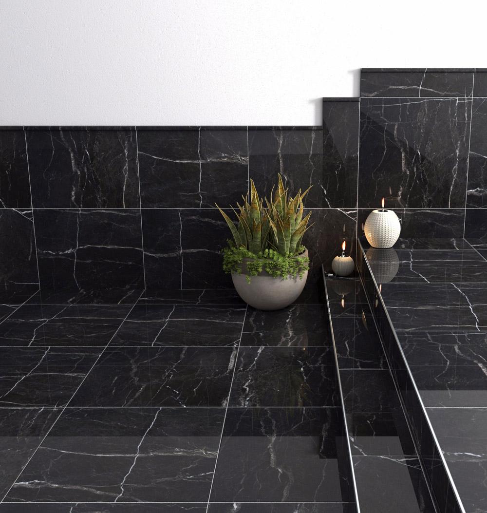 Perla Negra Marble Tiles Black Polished Marble Stone Tiles