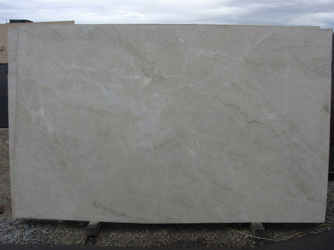 Perla Venato White Quartzite Slab Polished Quartzite Slab for Countertops
