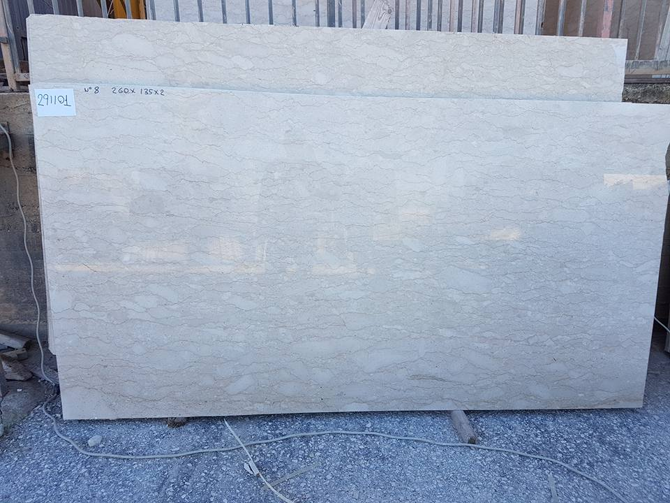 Perlatino Super Slabs Polished Beige Marble Slabs from Italy