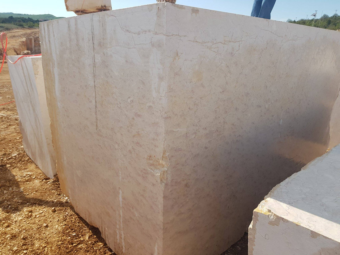 Perlato Beige Marble Blocks from Turkey